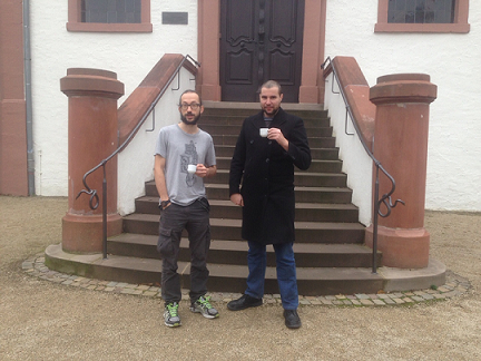 Andrea Cerone at Dagstuhl with former colleague Giovanni Bernardi